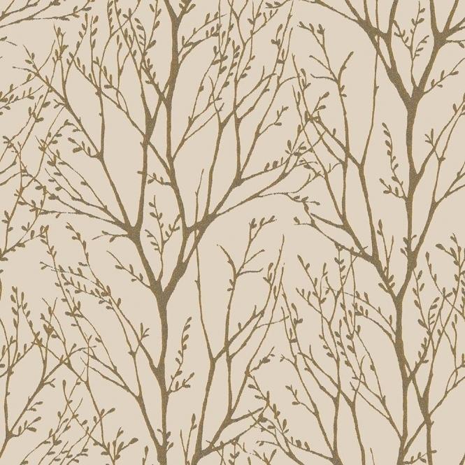 I Love Wallpaper Shimmer Tree Wallpaper Mushroom / Gold