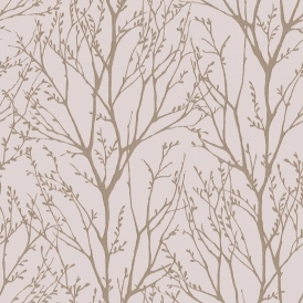 Shimmer Tree Wallpaper Soft Pink ILW980115