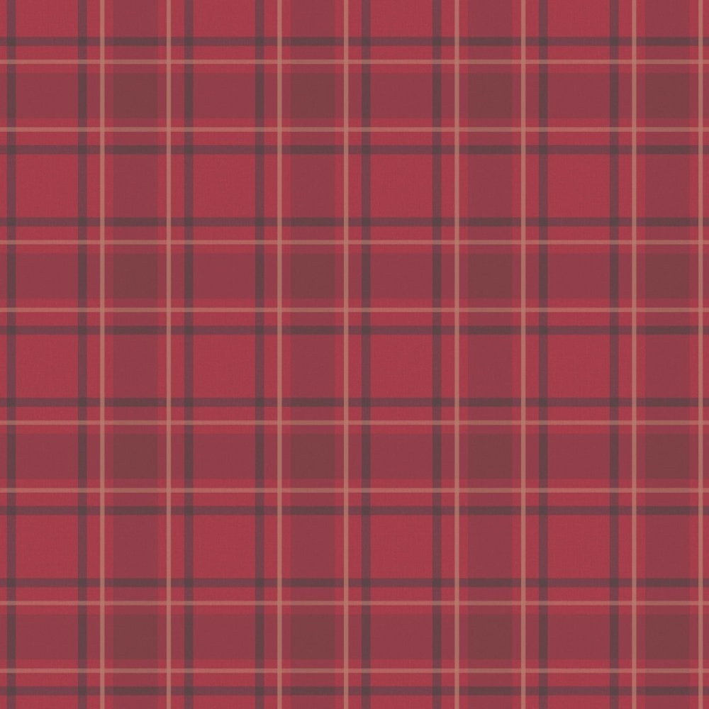 I Love Wallpaper Tartan Wallpaper Traditional Red