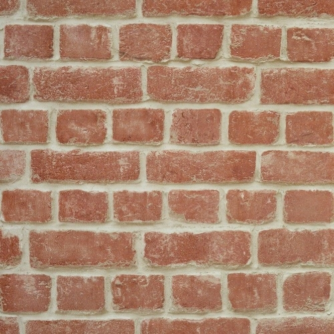 Warehouse Photographic Brick Effect Wallpaper Red (ILW261461)