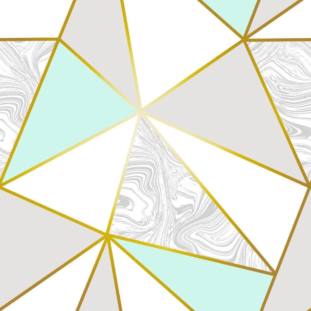 Zara Marble Metallic Wallpaper Mint, Gold (ILW980106
