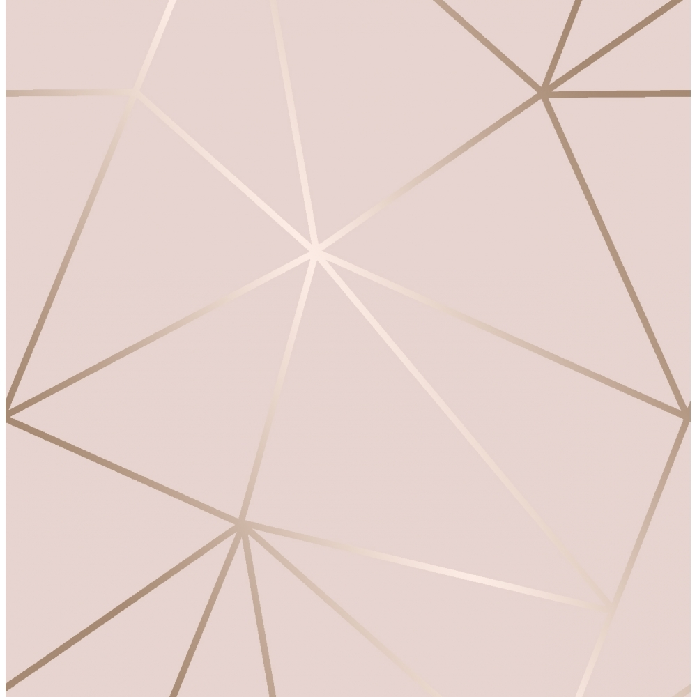 16 Rose Gold And Copper Details For Stylish Interior Decor: I Love Wallpaper Zara Shimmer Metallic Wallpaper Soft Pink
