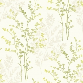 Imagine Fern Motif Leaf Wallpaper Green