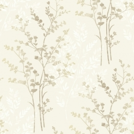 Imagine Fern Motif Leaf Wallpaper Natural