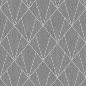 Indra Geometric Glitter Wallpaper Charcoal