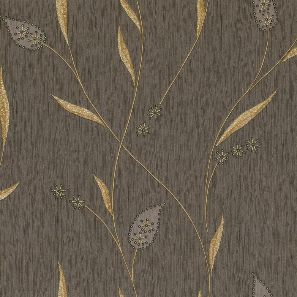 Buy Belgravia Decor Italian Vinyl Wallpaper Brown Gold