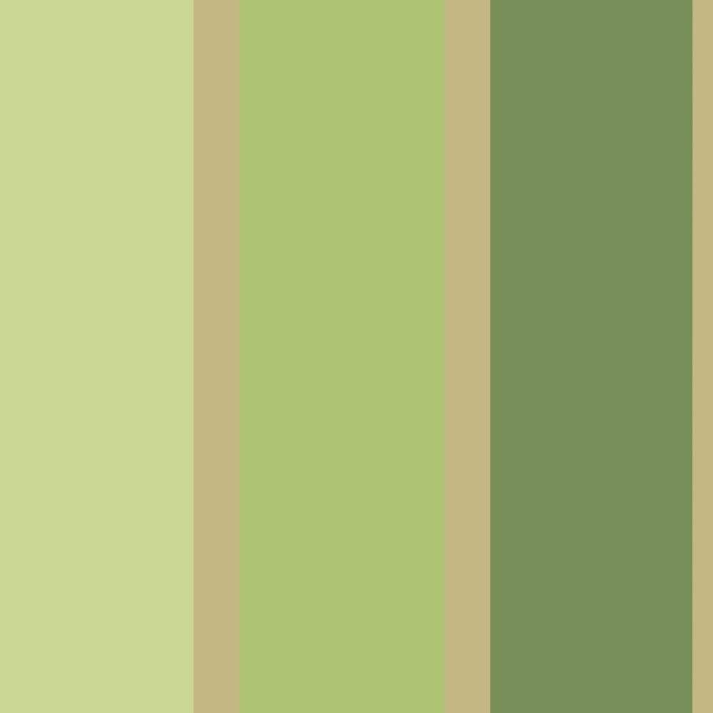 Designer Selection Jasmine Striped Wallpaper Green, Gold