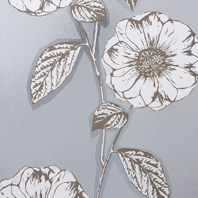 Jocelyn Warner Poppy Hand Screen Printed Floral Wallpaper Foil (JWP-1003)