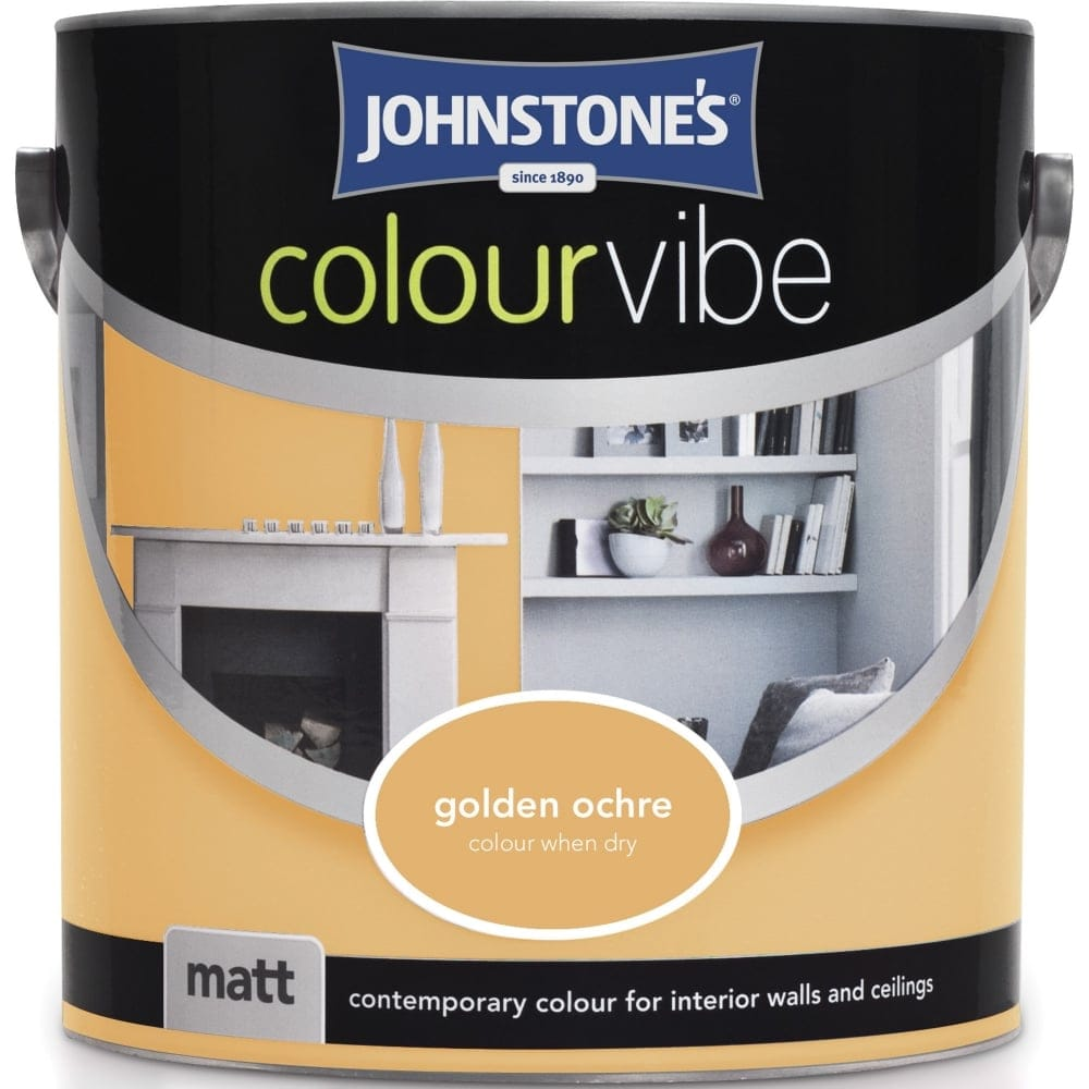 Johnstone S Golden Ochre Colour Vibe Emulsion Paint 2 5l