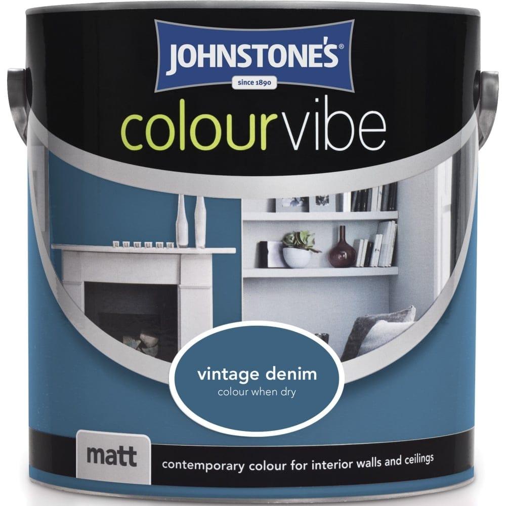 johnstone 39 s vintage denim colour vibe emulsion paint 2 5l. Black Bedroom Furniture Sets. Home Design Ideas