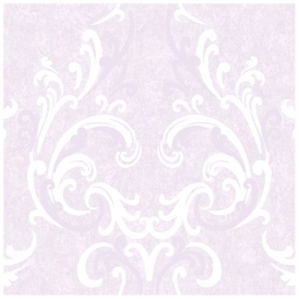 Juliette Damask Wallpaper Lilac Cream