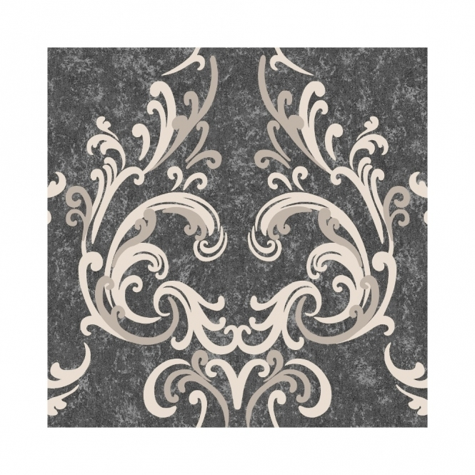 Muriva Juliette Wallpaper Charcoal / Beige (136501)
