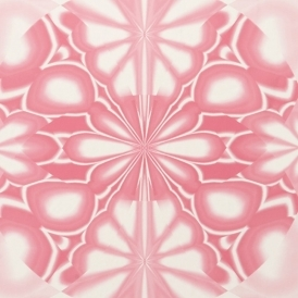 Kaleido Hand Screen Printed Retro Wallpaper Pink