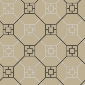 Kato San Geometric Flock Wallpaper Mink