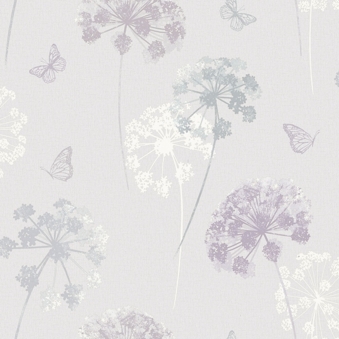 Arthouse Kitty Motif Floral Wallpaper Natural (259101)
