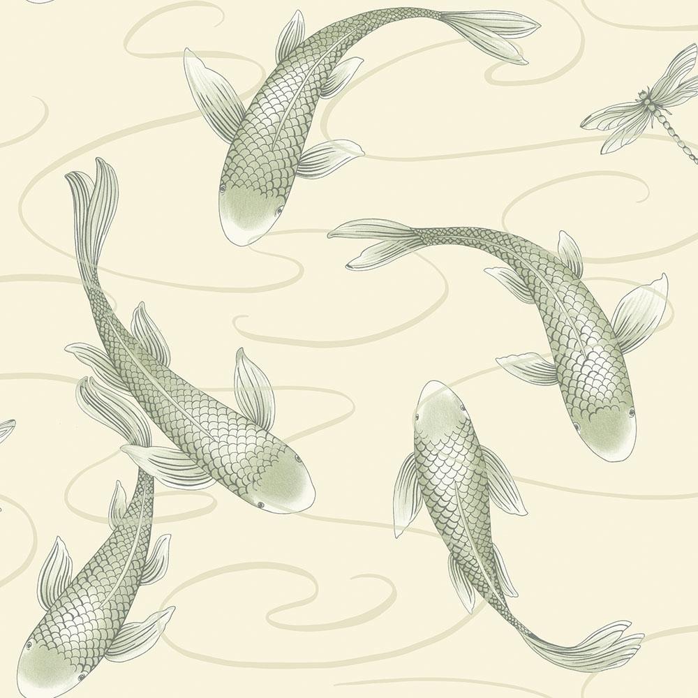 Koromo Koi Wallpaper Oyster Pearl