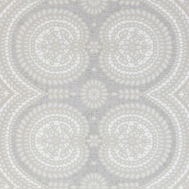 Jocelyn Warner Lace Hand Screen Printed Geometric Wallpaper White (JWP-1601)