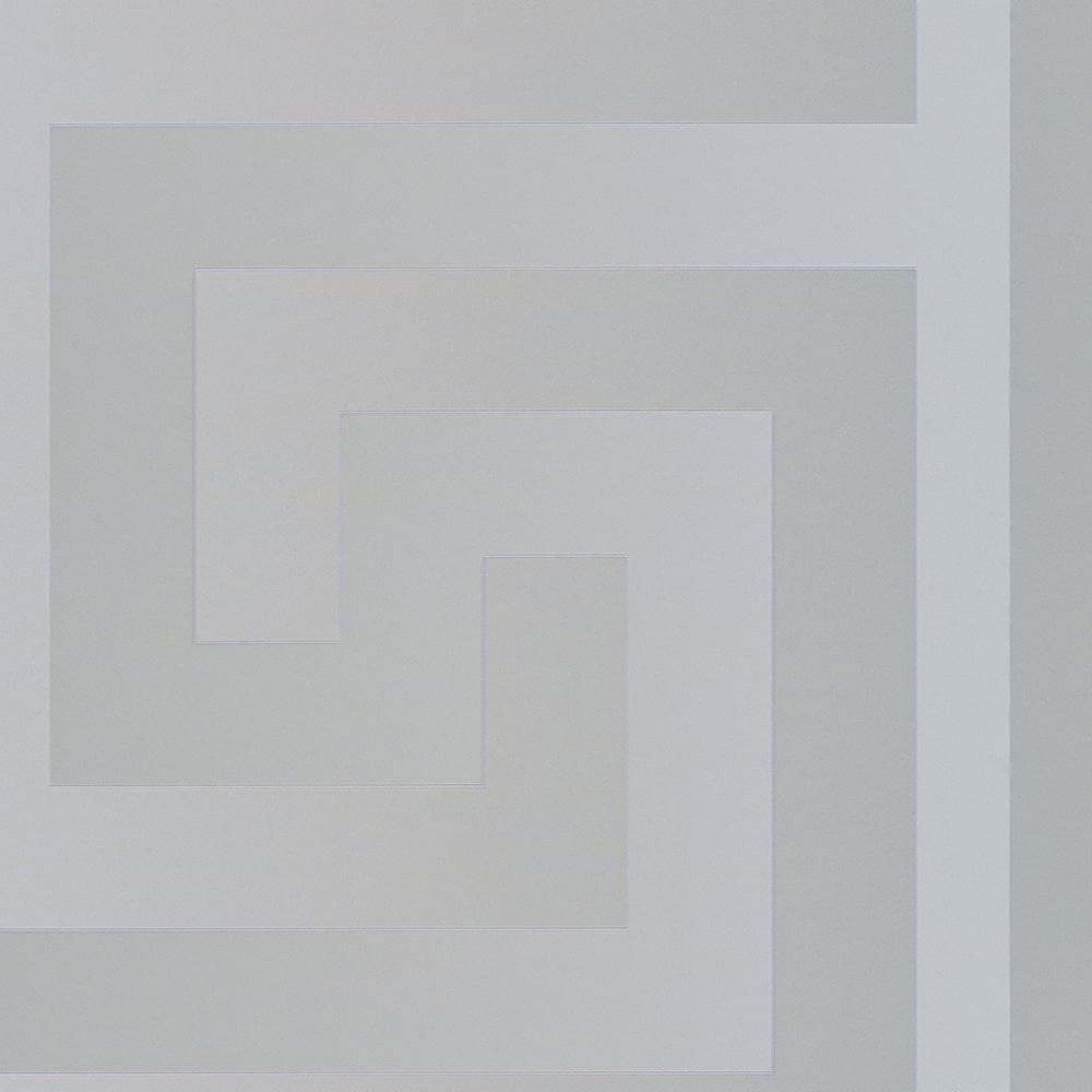 Versace Large Greek Key Wallpaper Silver Wallpaper From