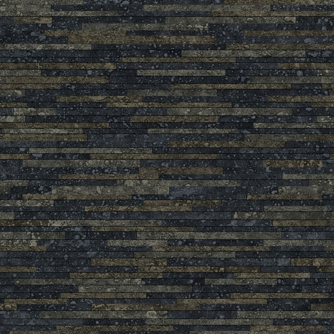 A Shade Wilder Lazulite Moonrock Designer Wallpaper Black, Slate Grey (300083)