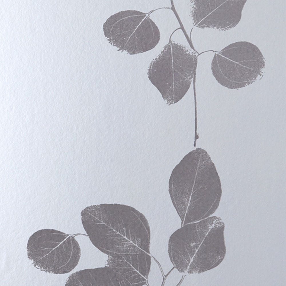 Jocelyn Warner Leaf Metallic Hand Screen Printed Leaf