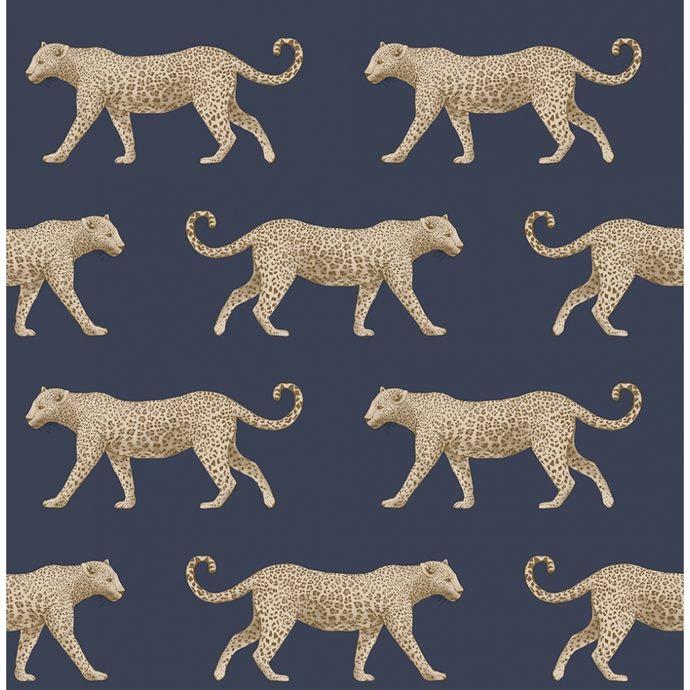 Leopard Motif Wallpaper Navy Gold Wallpaper From I Love Wallpaper Uk