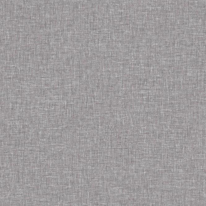 Linen Texture Fabric Effect Wallpaper Grey