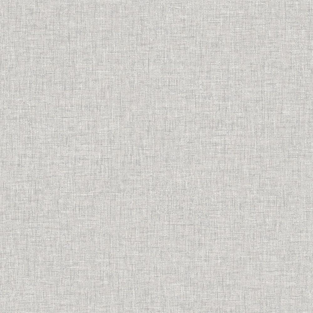Linen Texture Fabric Effect Wallpaper Light Grey