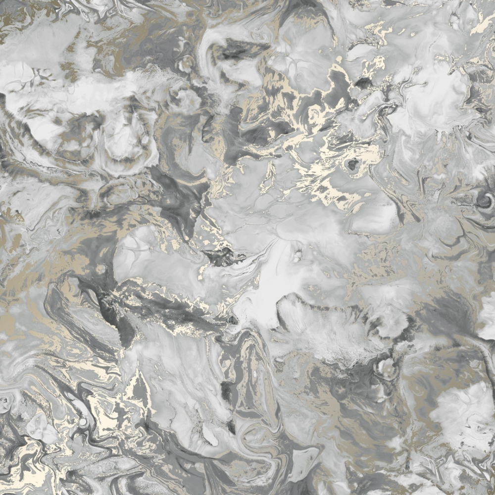 Liquid Marble Wallpaper Grey Gold Wallpaper From I Love