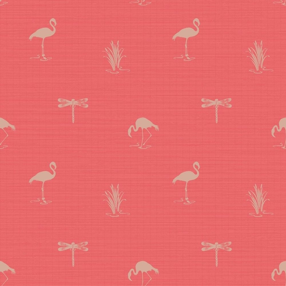 Lochs Lagoons Lakeside Insect Flamingo Wallpaper Coral
