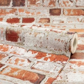 Loft Brick Wallpaper Red