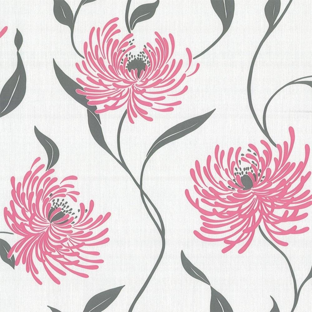 8c12bdf7e266 Crown Lola Wallpaper Hot Pink (M0465) - Wallpaper from I Love ...