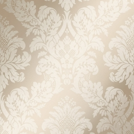 London Damask Wallpaper Gold