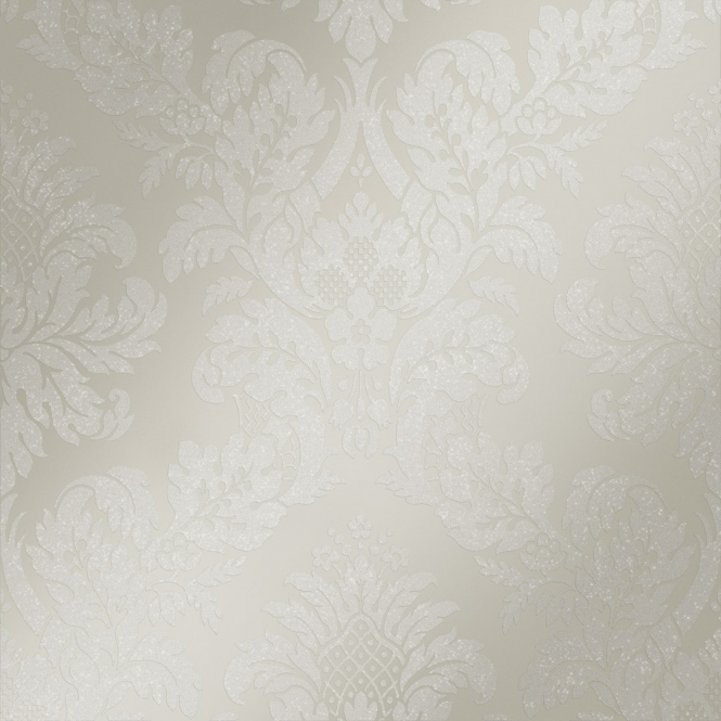 Henderson Interiors London Damask Wallpaper Pewter
