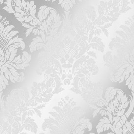 London Damask Wallpaper Silver