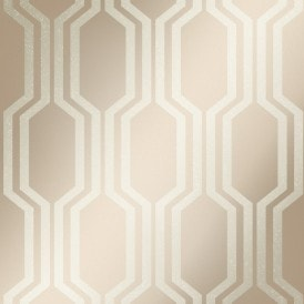 London Hex Wallpaper Gold