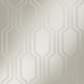 London Hex Wallpaper Pewter