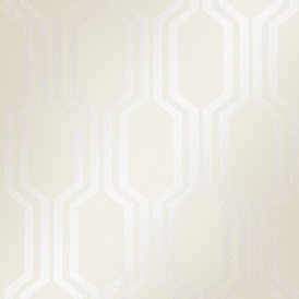 London Hex Wallpaper White