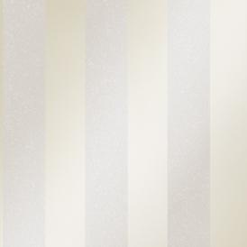 London Stripe Wallpaper White
