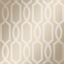 London Trellis Wallpaper Gold