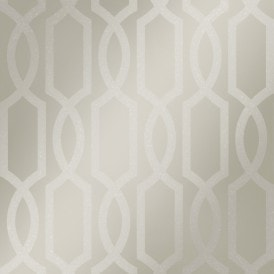 London Trellis Wallpaper Pewter