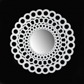 Loophole Circular Mirror White (300062)