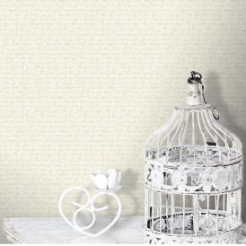 Love Note Wallpaper Parchment Cream (M0818)
