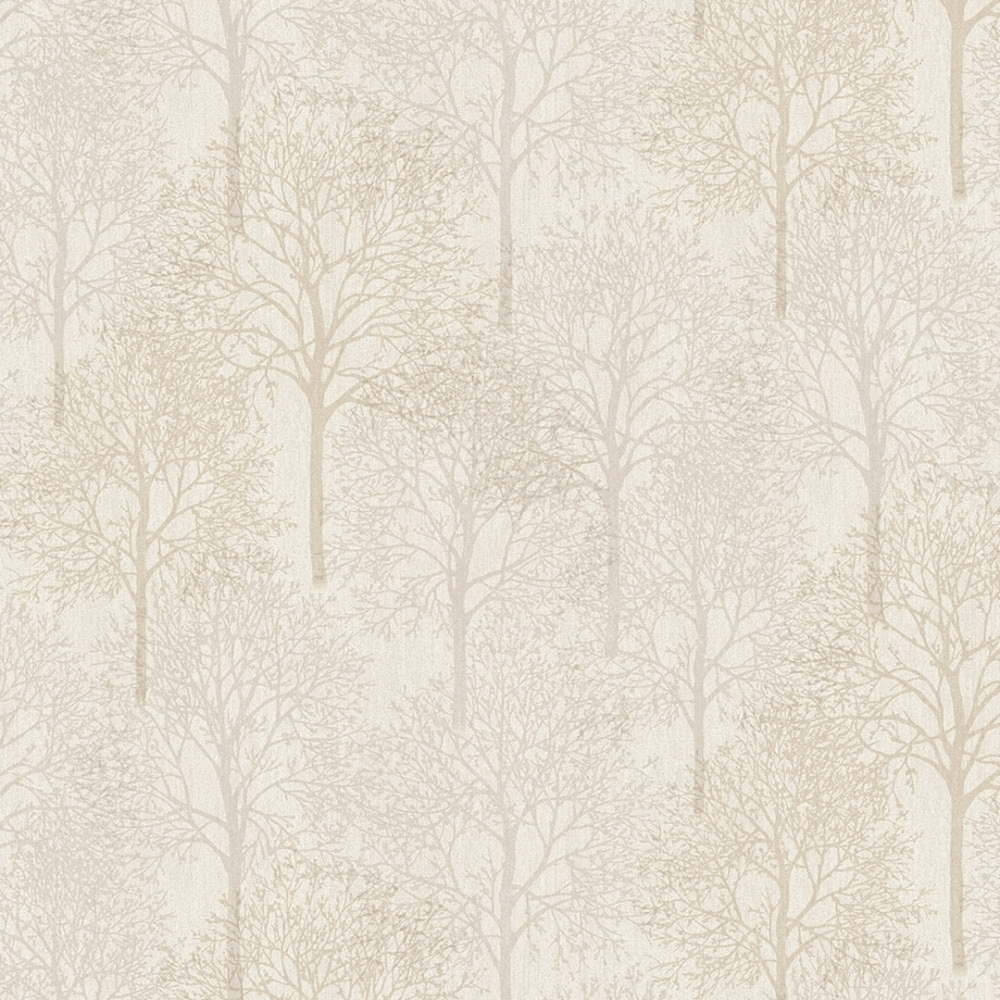 Lux Textures Chenille Forest Wallpaper Ivory