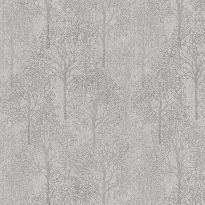 Henderson Interiors LUX Textures Chenille Forest Wallpaper Silver