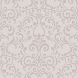 Luxe Damask Glitter Wallpaper Rose Gold