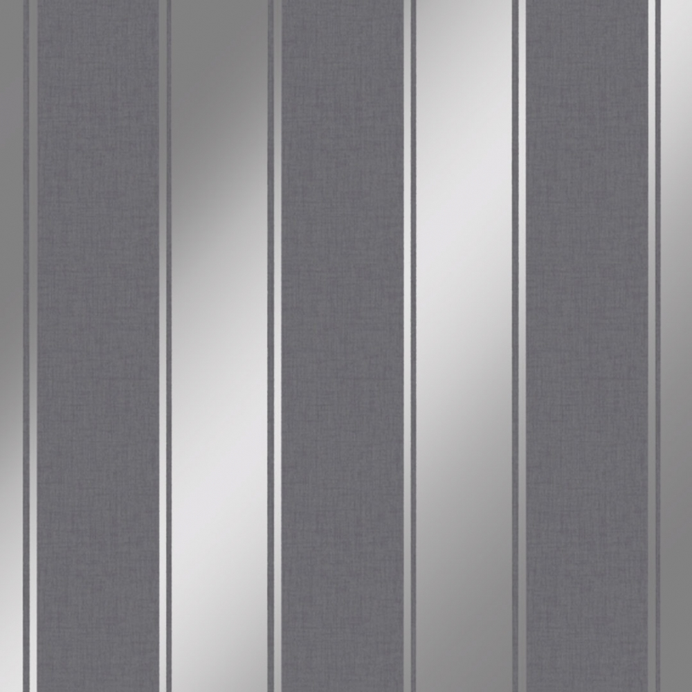 Luxe Stripe Wallpaper Gunmetal Silver Wallpaper From I Love