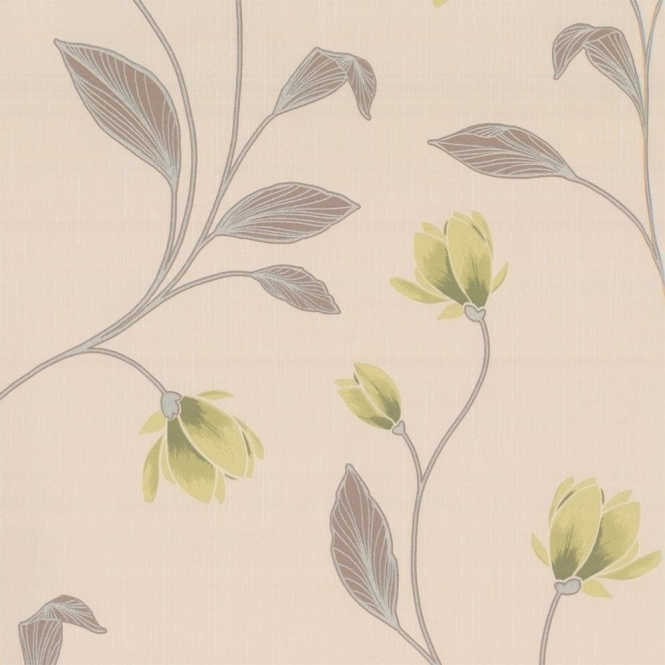 Erismann Magnolia Floral Wallpaper Green (9662-07)