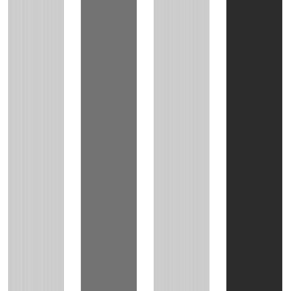 Fine Decor Magnum Stripe Wallpaper Black Silver White