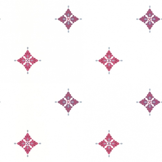 Arthouse Mahi Wallpaper White / Purple / Plum (01429MAHI)
