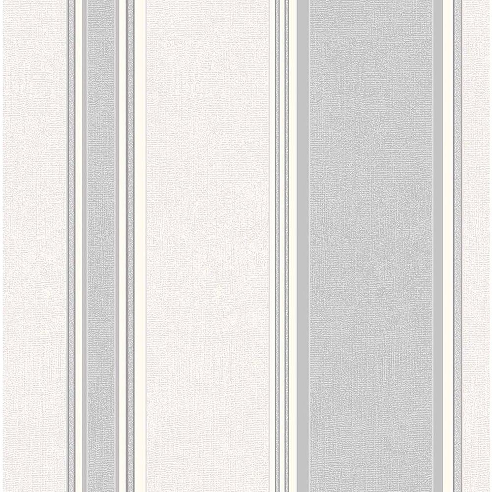 Coloroll mallory stripe textured vinyl wallpaper dappled for Gray vinyl wallpaper